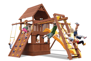 Deluxe Fort Combo 3 with Playhouse (21C) - River City Play Systems