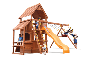 Deluxe Fort Hangout (21D) - River City Play Systems