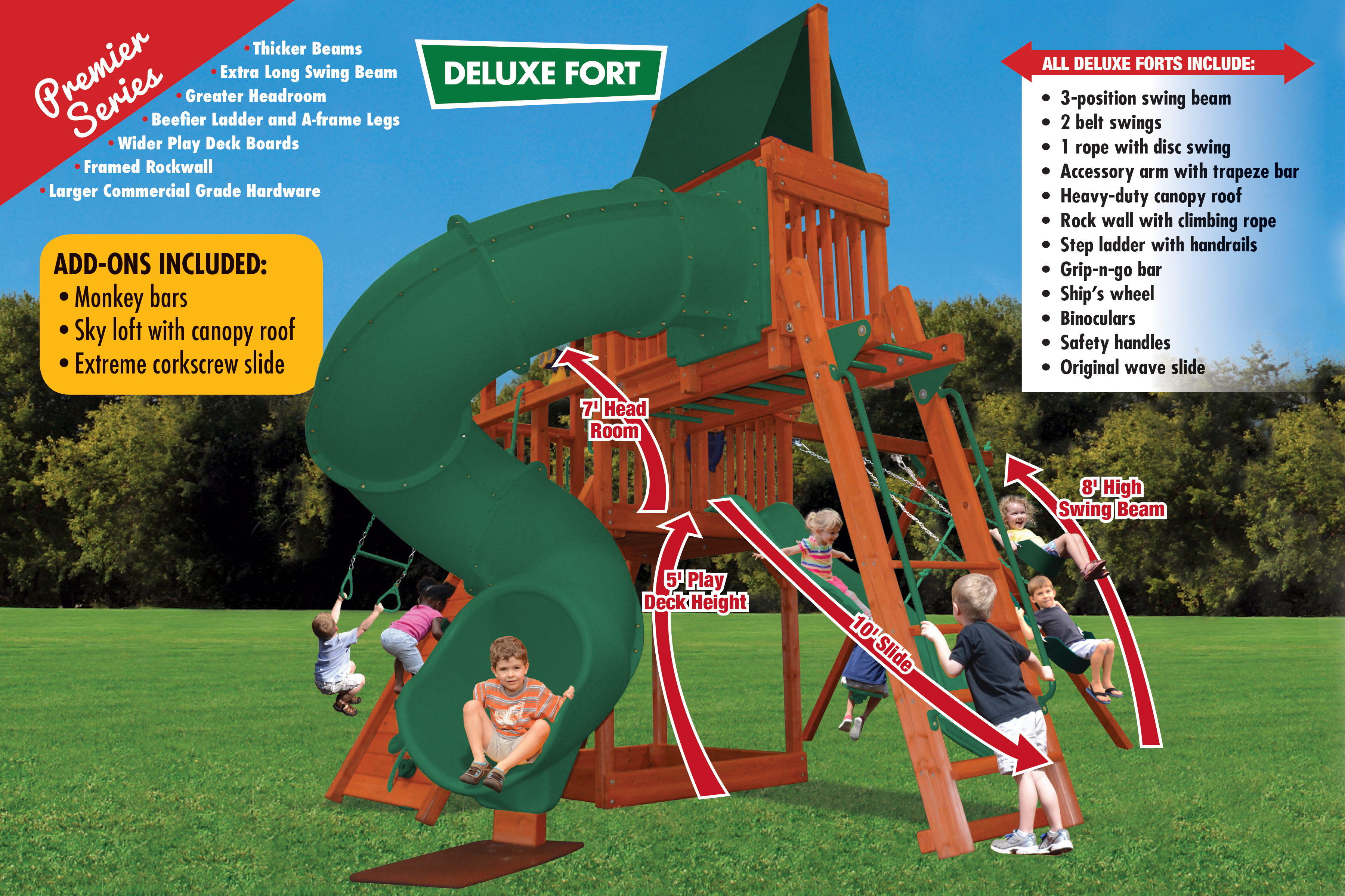 Deluxe Fort Combo 5 (21F) - River City Play Systems