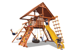 Load image into Gallery viewer, Deluxe Playcenter Combo 2 with Wood Roof (23B) - River City Play Systems