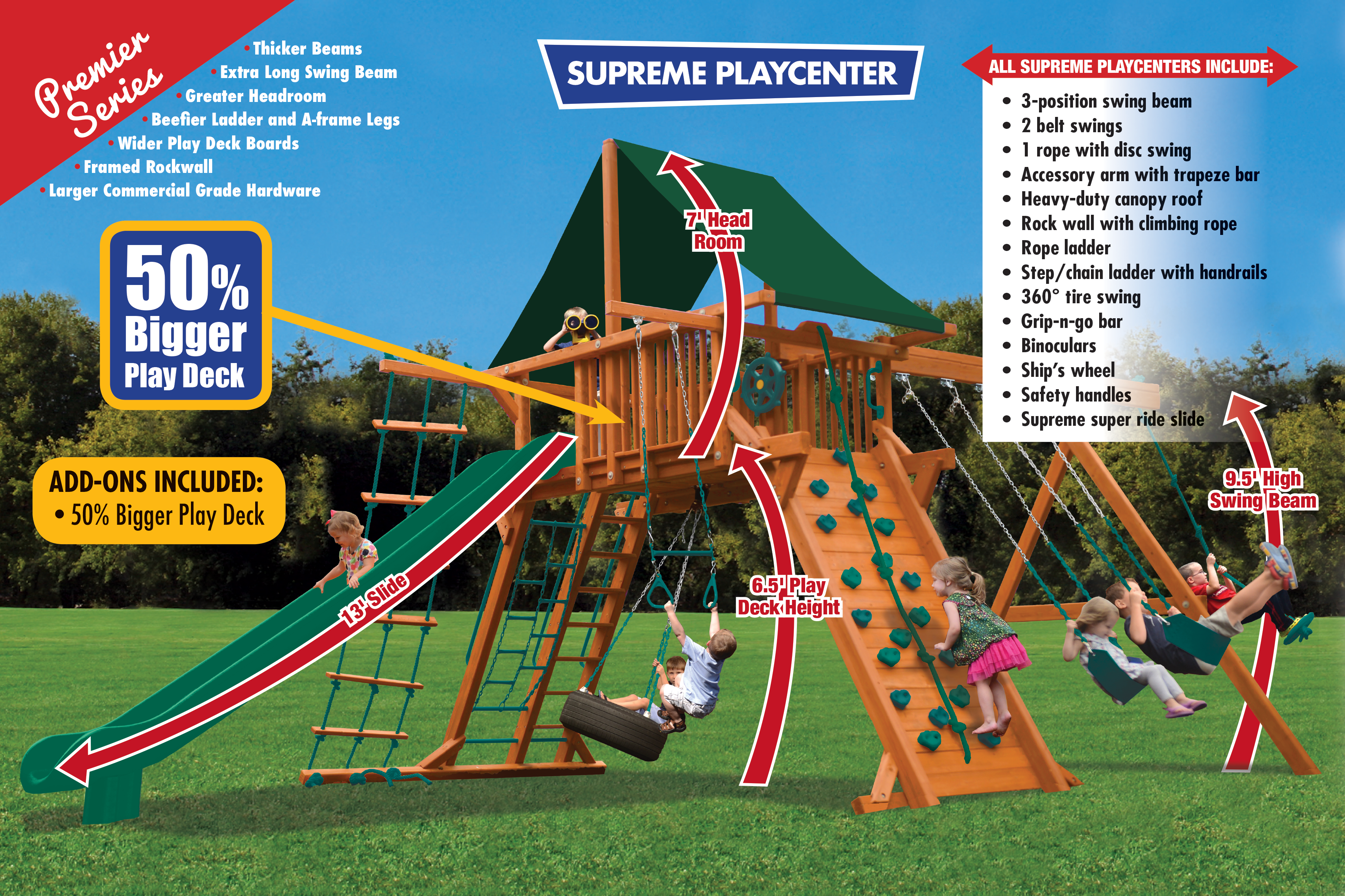 Supreme Playcenter Combo 2 XL (31C) - River City Play Systems