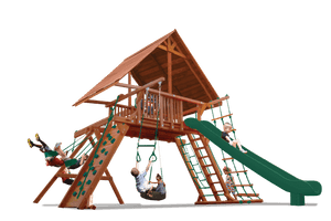 Extreme Playcenter Combo 2 with Wood Roof (35B) - River City Play Systems
