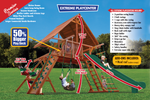 Load image into Gallery viewer, Extreme Playcenter Combo 2 with Wood Roof (35B) - River City Play Systems
