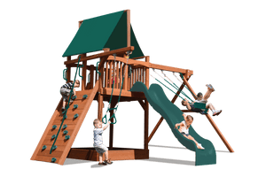 Deluxe Fort with 2 Position Swing Beam (41C) - River City Play Systems