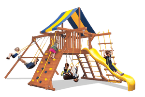 Original Playcenter with 2 Position Swing Beam (41E) - River City Play Systems