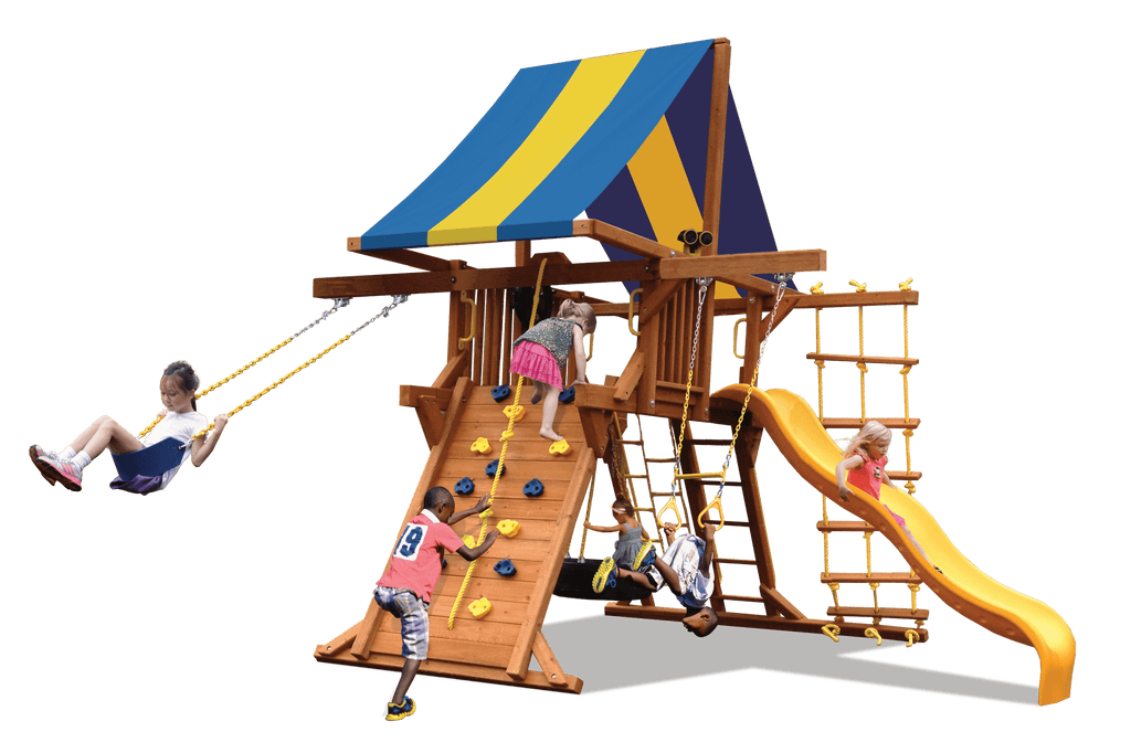 Deluxe Playcenter with Double Swing Arm (41F) - River City Play Systems