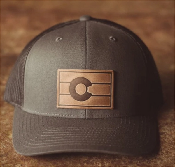 Colorado Flag Hat, Charcoal