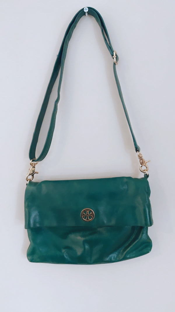 Tory Burch Dena Crossbody Bag, Emerald Green