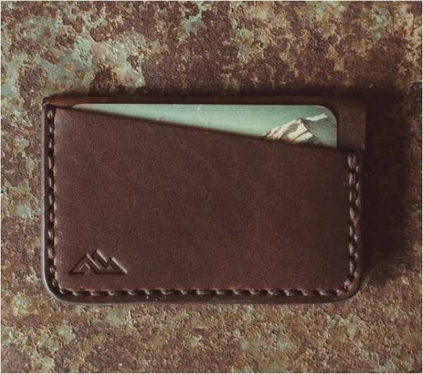 Gannet Minimalist Wallet, Nut Brown