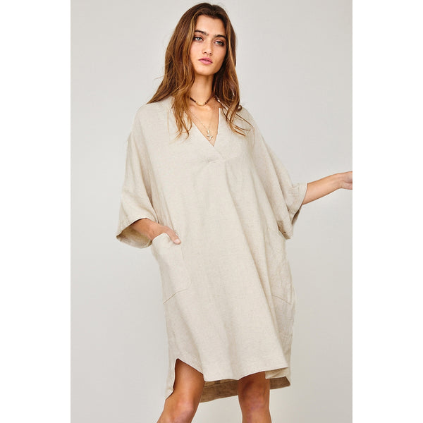 Winnie- Linen Shirt Dress