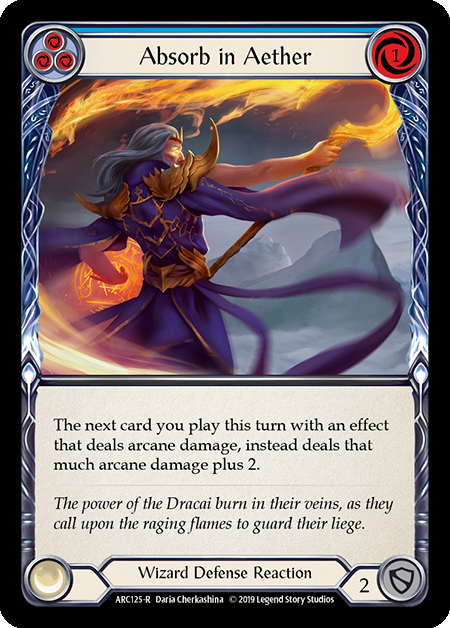 Absorb in Aether (Blue) - Rainbow Foil