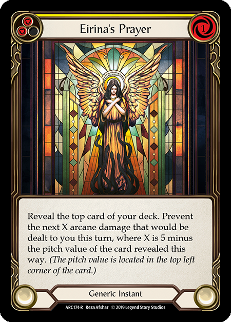 Eirina's Prayer (Yellow) - Rainbow Foil
