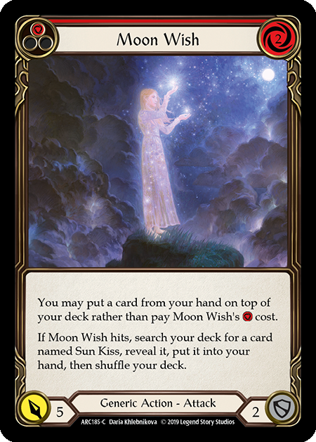 Moon Wish (Red) - Rainbow Foil