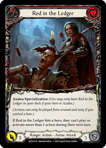 Red in the Ledger - Rainbow Foil
