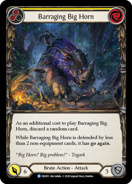 Barraging Big Horn (Yellow) - Rainbow Foil