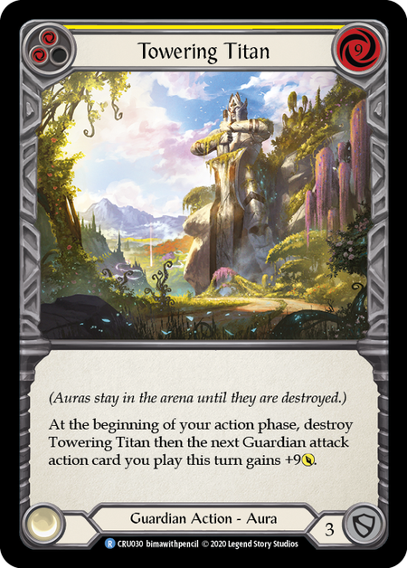 Towering Titan (Yellow) - Rainbow Foil