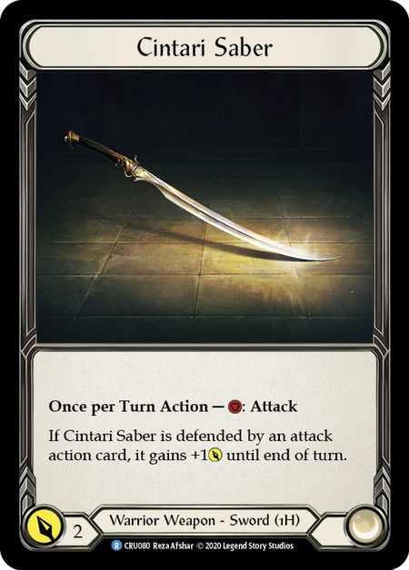 Cintari Saber, Right Sword - Cold Foil