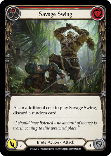 Savage Swing (Red) - Rainbow Foil