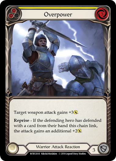 Overpower (Yellow): Rainbow Foil [Alpha]