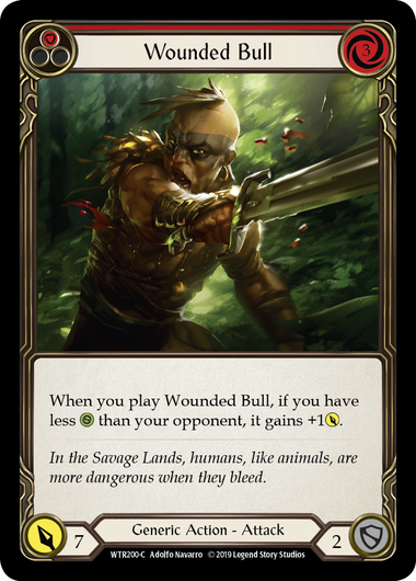 Wounded Bull (Red) - Rainbow Foil
