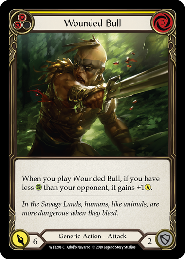 Wounded Bull (Yellow) - Rainbow Foil