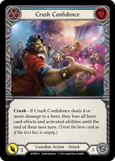 CRUsh Confidence (Blue) - Rainbow Foil