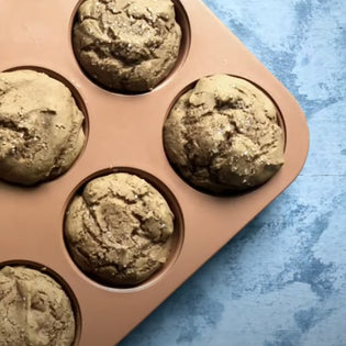 Gluten free CBD gingerbread muffins to put you in the holiday spirit.