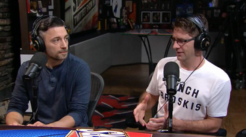 The 'Bench Broskis' shirt, as modeled by 'The Starters' on NBA TV