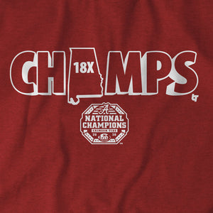 Alabama Football: 18x Champs
