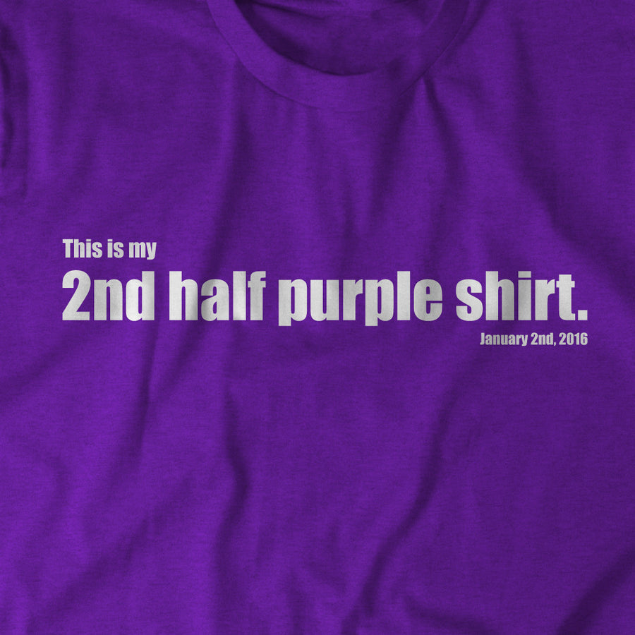 The 2nd Half Purple Shirt