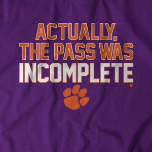 Actually, The Pass Was Incomplete