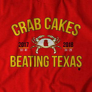 Crab Cakes & Beating Texas