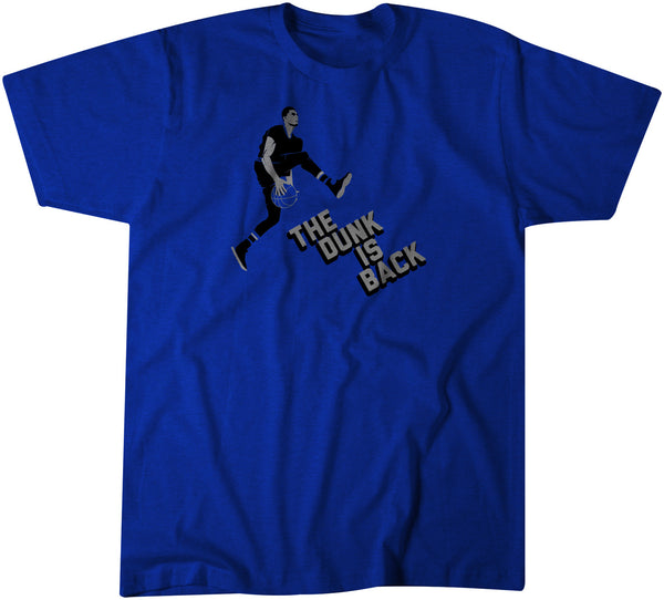 Vintage-style tee shirt commemorating Zach Lavine's between-the-legs dunk from the free throw line during the NBA slam dunk contest