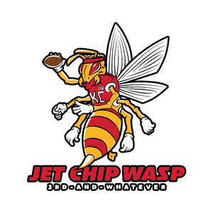 Jet Chip Wasp Sticker