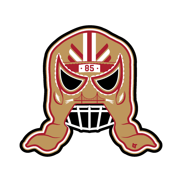 George Kittle: Lucha Mask Sticker