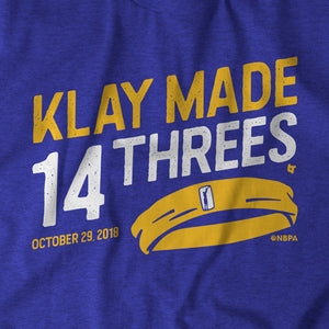 Klay Made 14 Threes