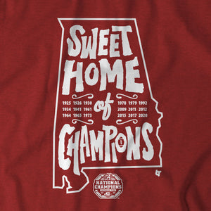 Alabama Football: Sweet Home of Champions