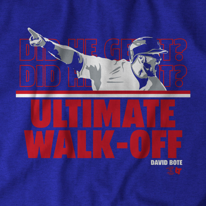 The Ultimate Walk-Off
