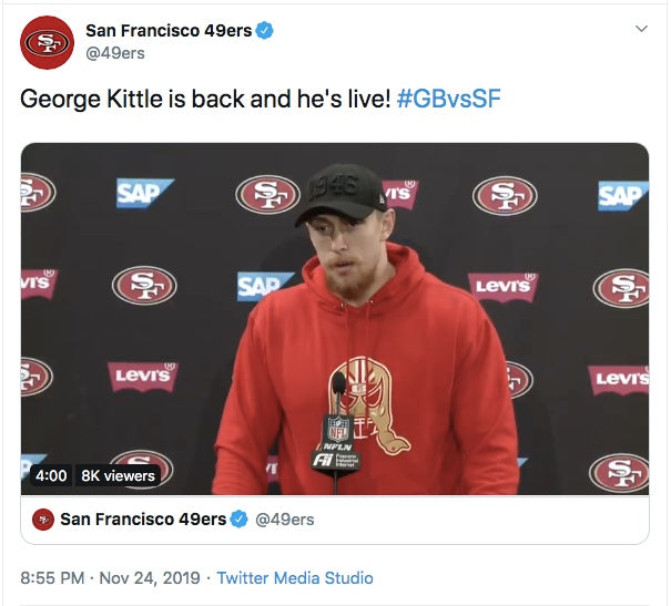 George Kittle: Lucha Mask