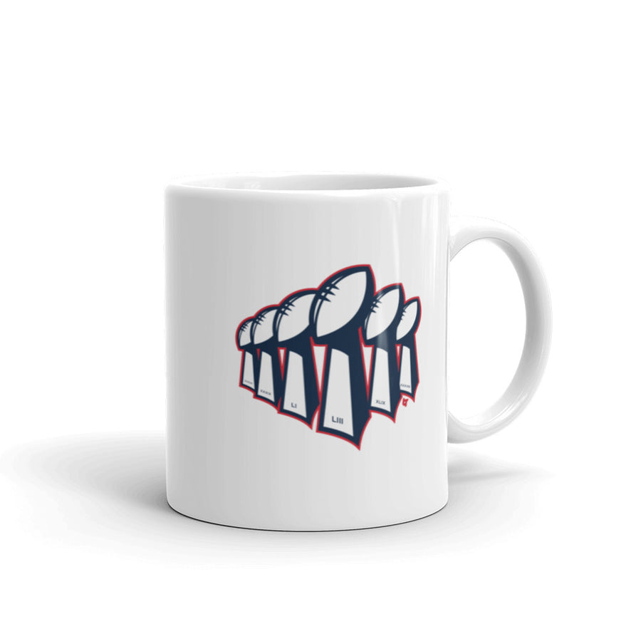 New England 6x Champs Mug