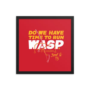 Run Wasp Framed Print