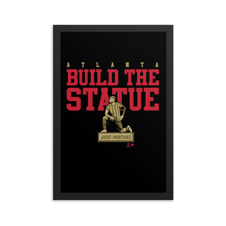 Build The Statue Framed Print