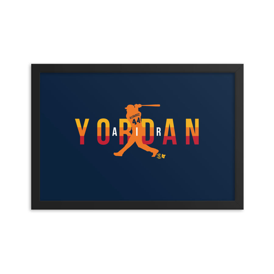 Air Yordan Framed Print