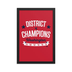 District Of Champions Framed Print