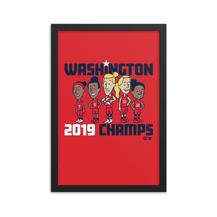 Washington 2019 Champs Framed Print