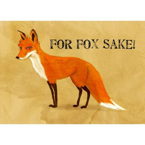 Resin 5x7 Print - For Fox Sake