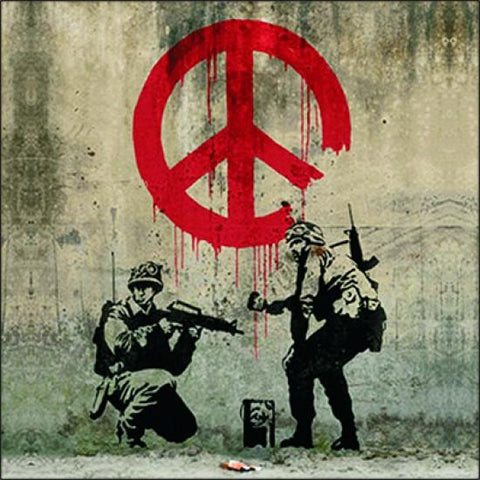 Resin Coaster - Banksy Peace
