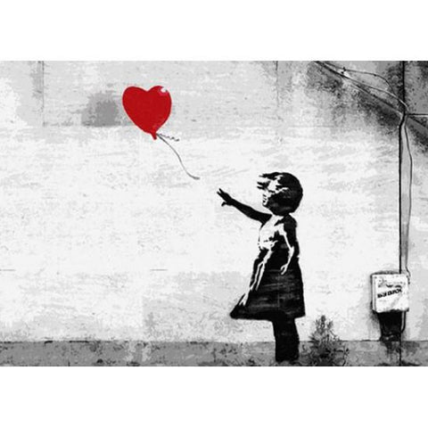 Resin 5x7 Print - Banksy Follow Your Heart