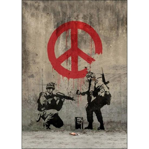 Resin 5x7 Print- Banksy Peace