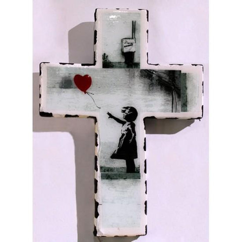 Plaster Cross Banksy Balloon